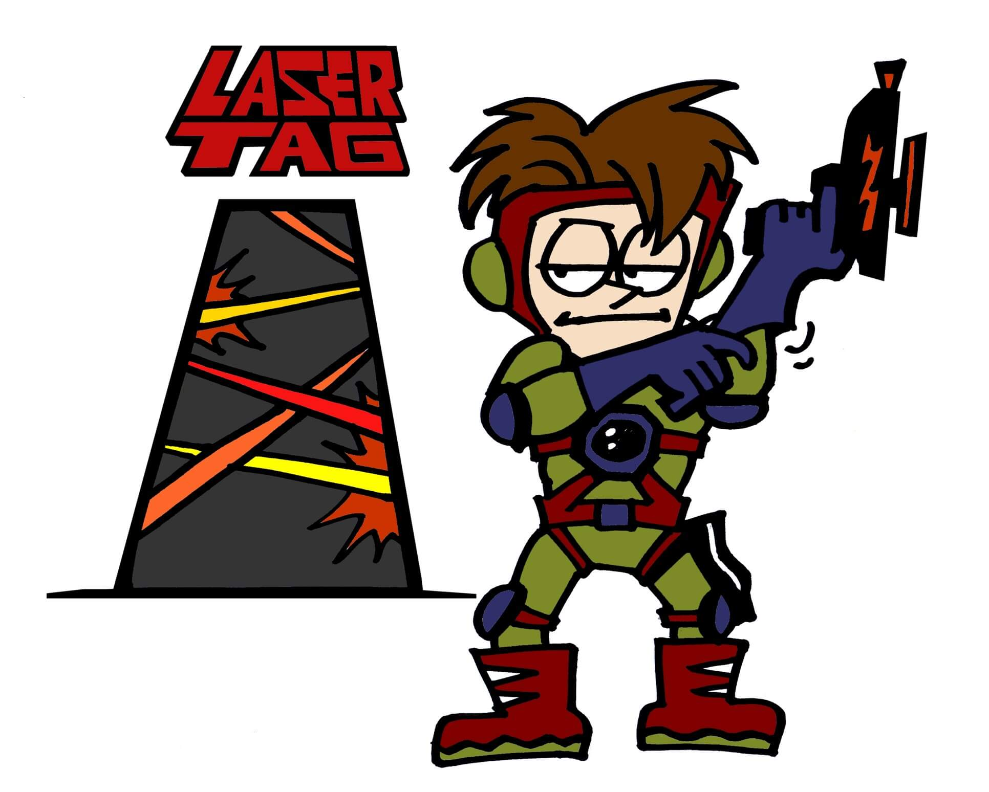 laser tag coloring pages - photo#11